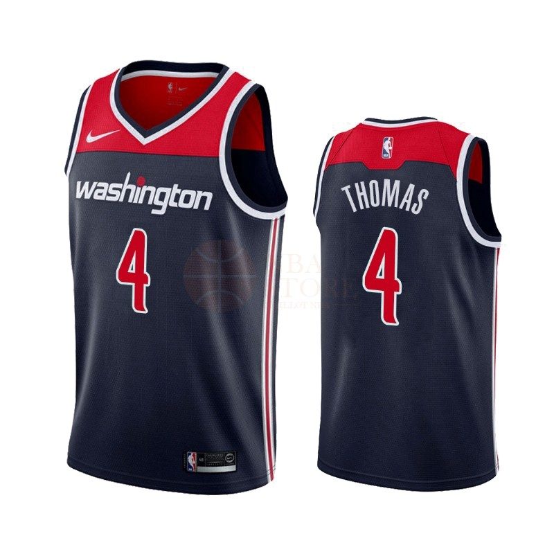 Classic Maillot NBA Nike Washington Wizards NO.4 Isaiah Thomas Marine Statement 2019-20