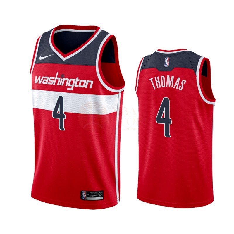 Classic Maillot NBA Nike Washington Wizards NO.4 Isaiah Thomas Rouge Icon 2019-20