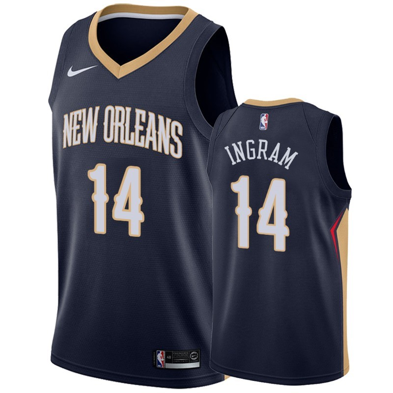 Maillot NBA Nike New Orleans Pelicans NO.14 Brandon Ingram Marine Icon 2019-20