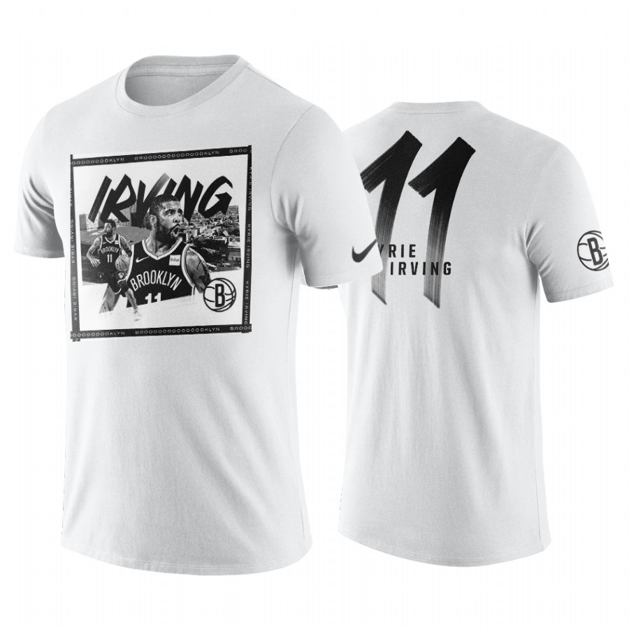 T-Shirt NBA Brooklyn Nets Kyrie Irving Blanc