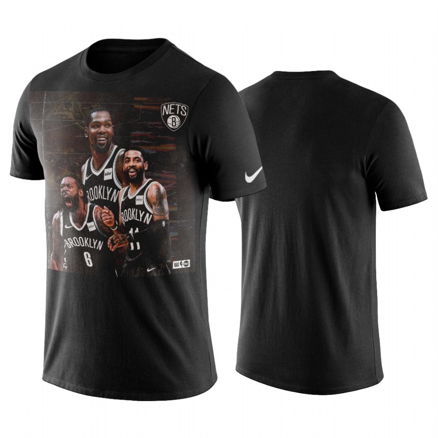 T-Shirt NBA Brooklyn Nets Kyrie Irving Noir