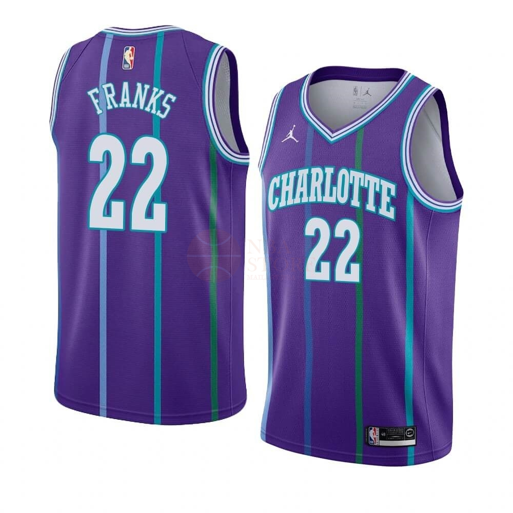 Classic Maillot NBA Charlotte Hornets NO.22 Robert Franks Pourpre Hardwood Classics