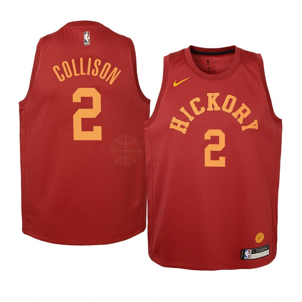 Classic Maillot NBA Enfant Indiana Pacers NO.2 Darren Collison Nike Retro Bordeaux