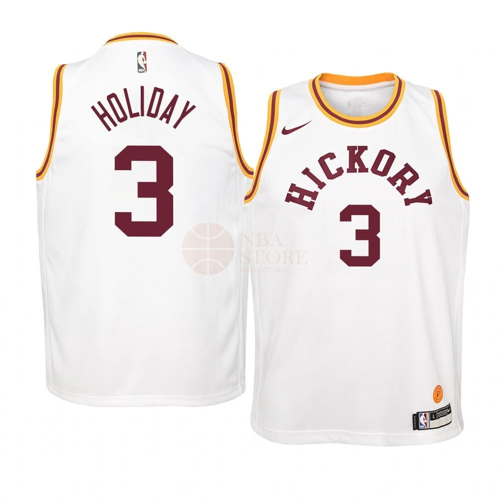 Classic Maillot NBA Enfant Indiana Pacers NO.3 Aaron Holiday Nike Retro Blanc