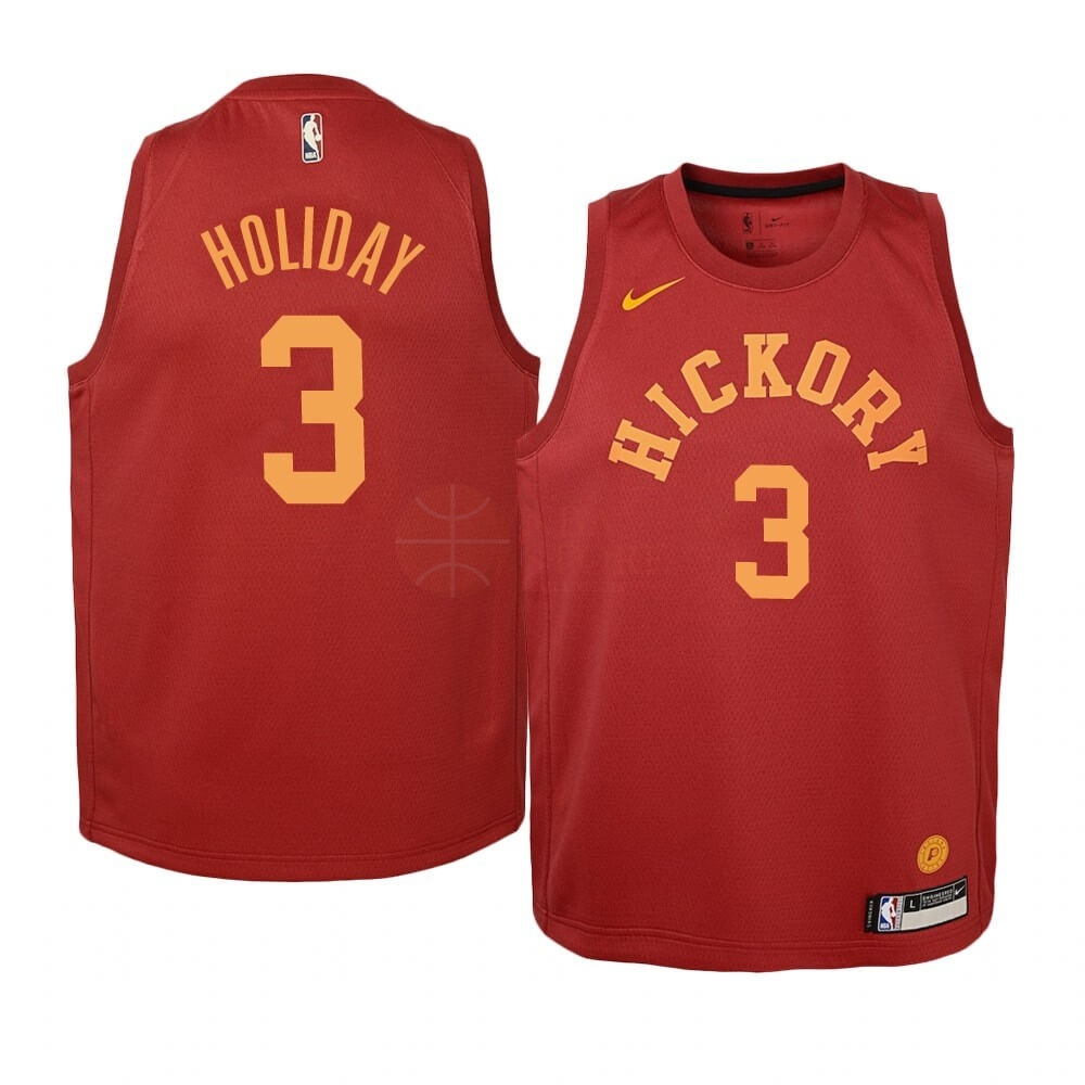 Classic Maillot NBA Enfant Indiana Pacers NO.3 Aaron Holiday Nike Retro Bordeaux