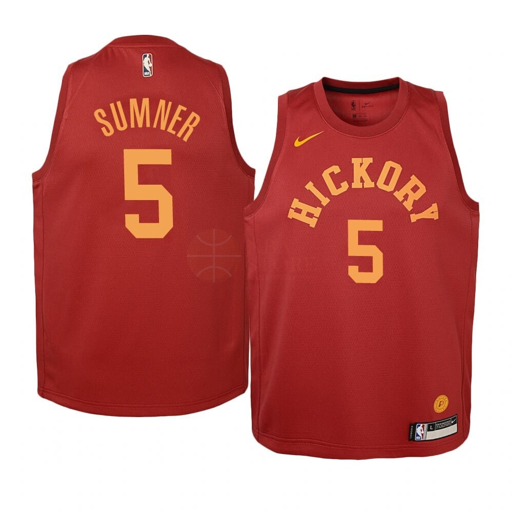 Classic Maillot NBA Enfant Indiana Pacers NO.5 Edmond Sumner Nike Retro Bordeaux