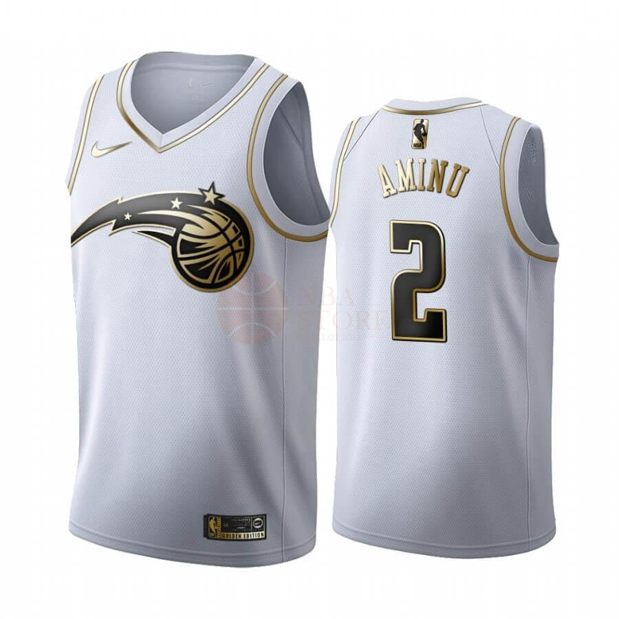 Classic Maillot NBA Nike Orlando Magic NO.2 Al-Farouq Aminu Blanc Or 2019-20