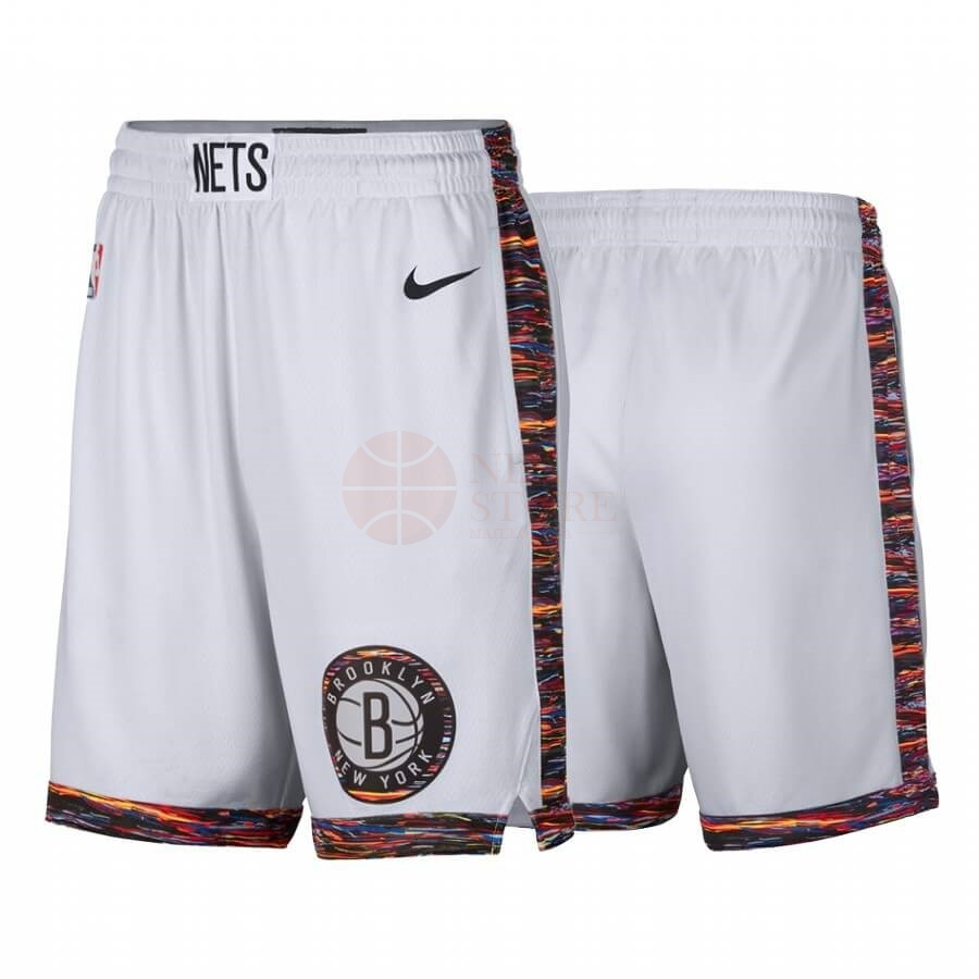 Classic Short Basket Brooklyn Nets Nike Blanc Ville 2019-20