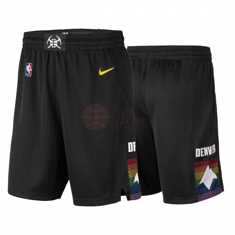 Classic Short Basket Denver Nuggets Nike Noir Ville 2019-20
