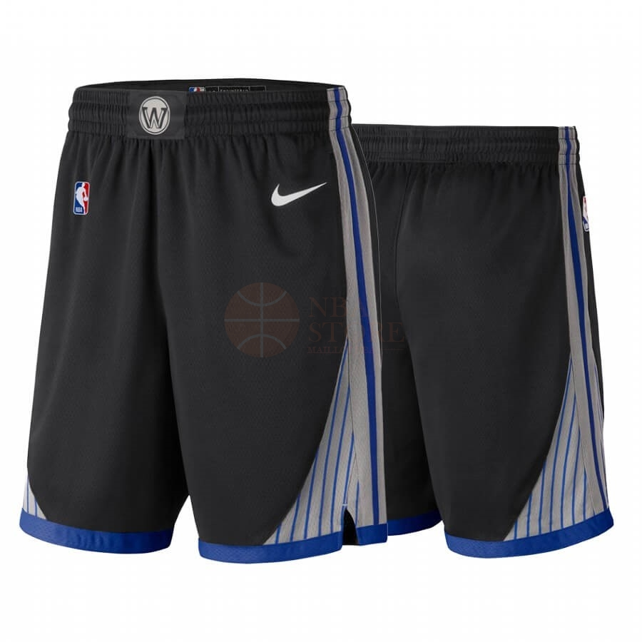 Classic Short Basket Golden State Warriors Nike Noir Ville 2019-20