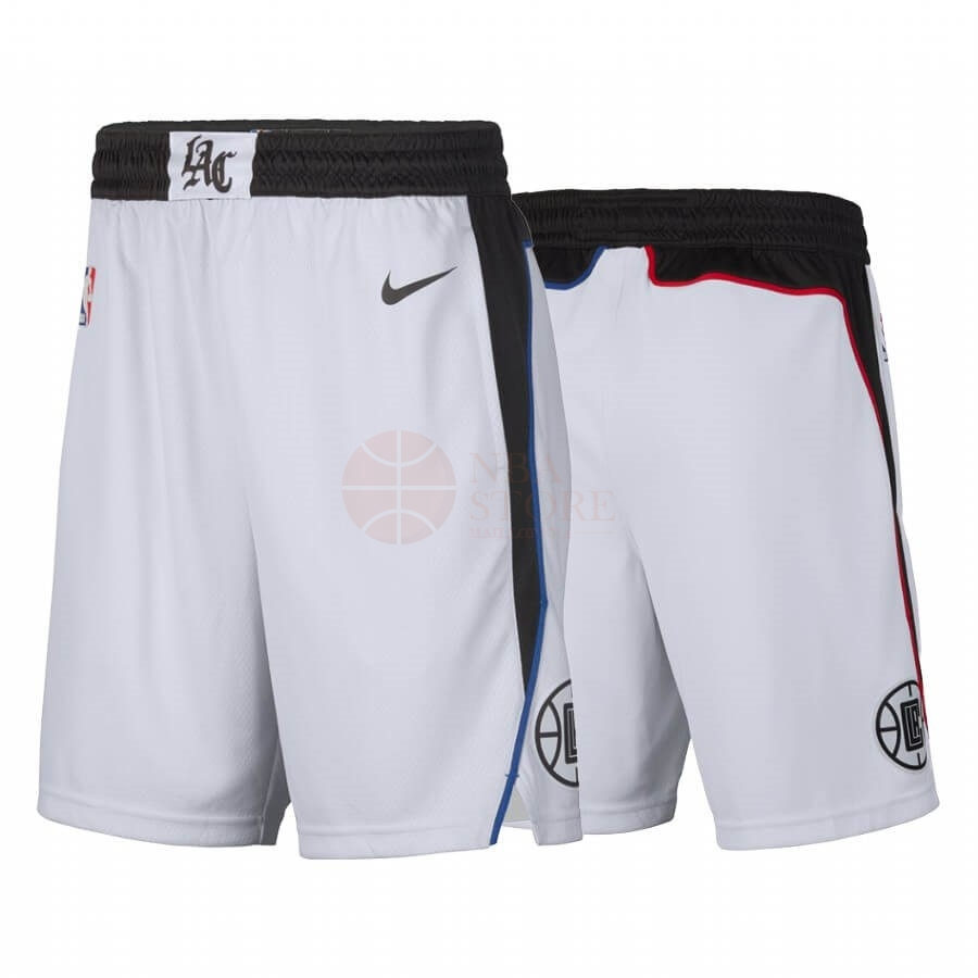 Classic Short Basket Los Angeles Clippers Nike Blanc Ville 2019-20