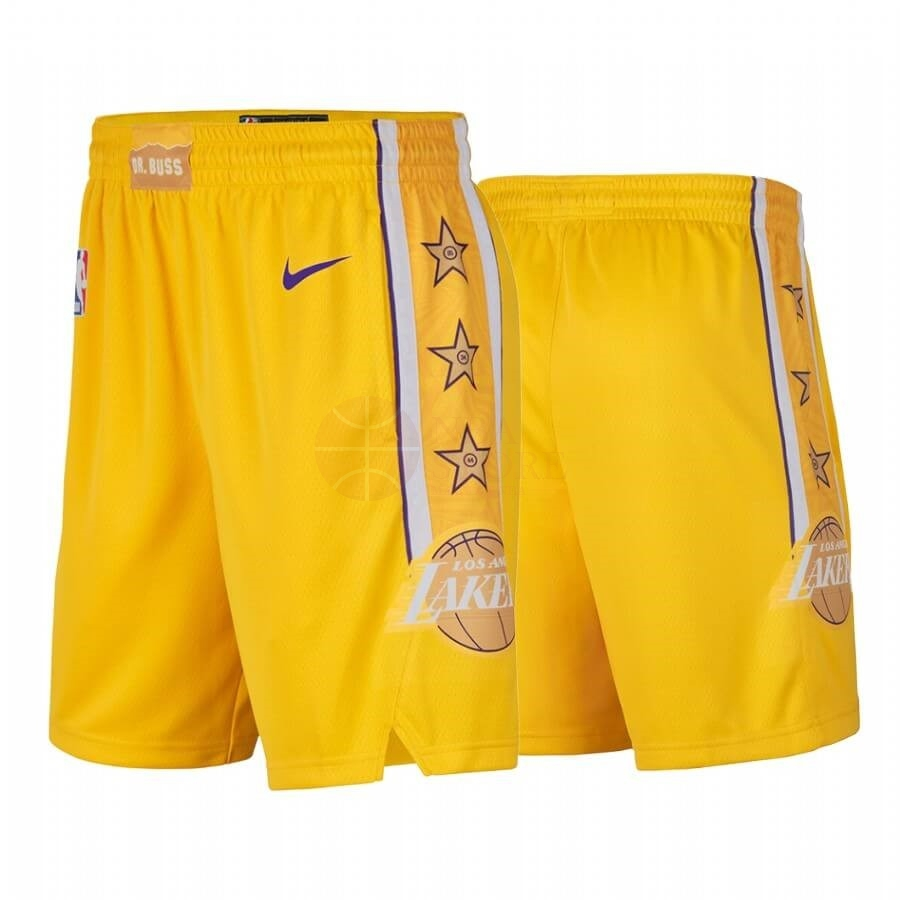 Classic Short Basket Los Angeles Lakers Nike Jaune Ville 2019-20