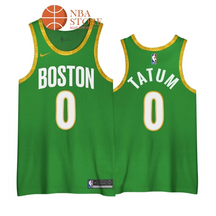 Maillot NBA Earned edition Boston Celtics NO.0# Jayson Tatum Vert 2020-21
