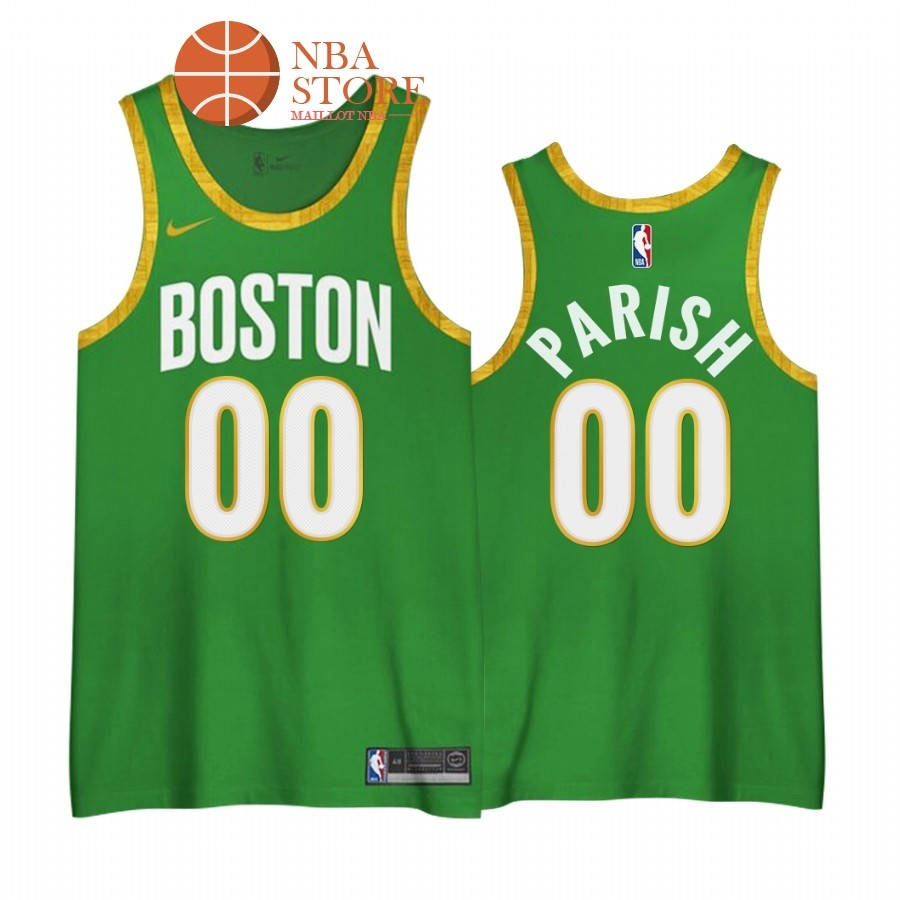 Maillot NBA Earned edition Boston Celtics NO.00# Robert Parish Vert 2020-21