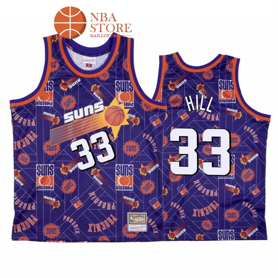 Maillot NBA Phoenix Suns Tear Up Pack NO.33# Grant Hill Pourpre Hardwood Classics