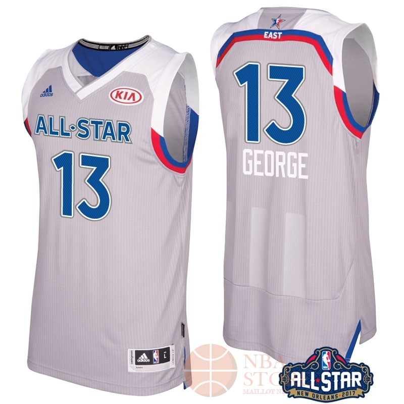 Classic Maillot NBA 2017 All Star NO.13 Paul George Gray