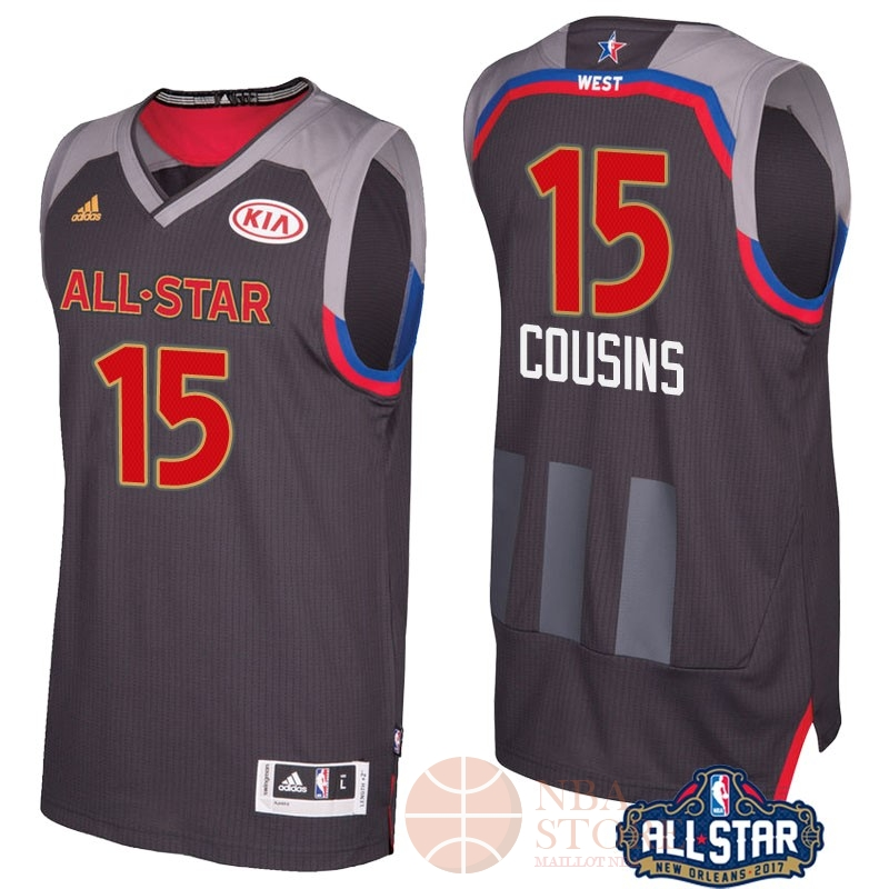 Classic Maillot NBA 2017 All Star NO.15 Demarcus Cousins Charbon