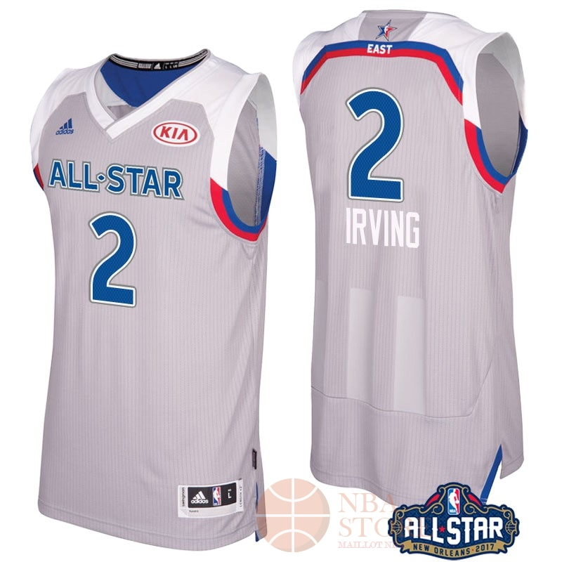 Classic Maillot NBA 2017 All Star NO.2 kyrie Irving Gray