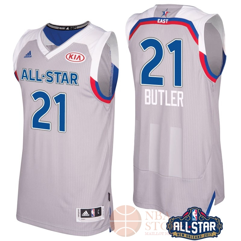 Classic Maillot NBA 2017 All Star NO.21 Jimmy Butler Gray