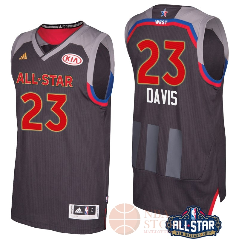 Classic Maillot NBA 2017 All Star NO.23 Anthony Davis Charbon