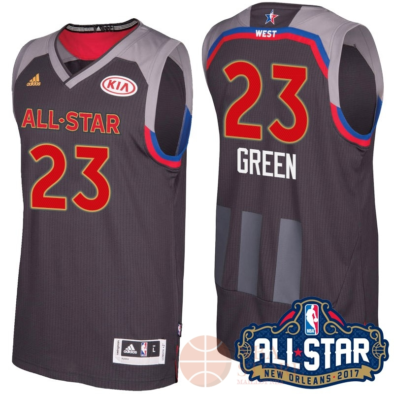 Classic Maillot NBA 2017 All Star NO.23 Draymond Green Charbon