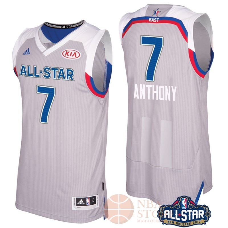 Classic Maillot NBA 2017 All Star NO.7 Carmelo Anthony Gray
