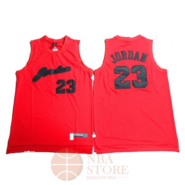 e57a1f2496c11 Classic Maillot NBA Chicago Bulls NO.23 Michael Jordan Rouge Noir Engrener