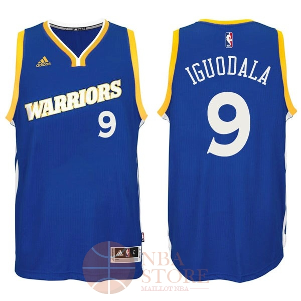 Classic Maillot NBA Golden State Warriors NO.9 Andre Iguodala 2016-2017 Bleu
