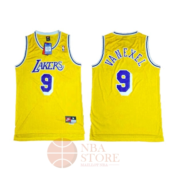 Classic Maillot NBA Los Angeles Lakers NO.9 Nick Van Exel Jaune