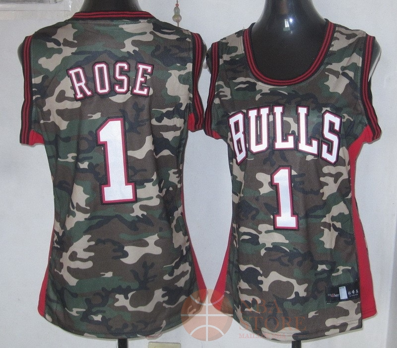 Classic Maillot NBA Femme 2013 Camouflage Fashion NO.1 Rose