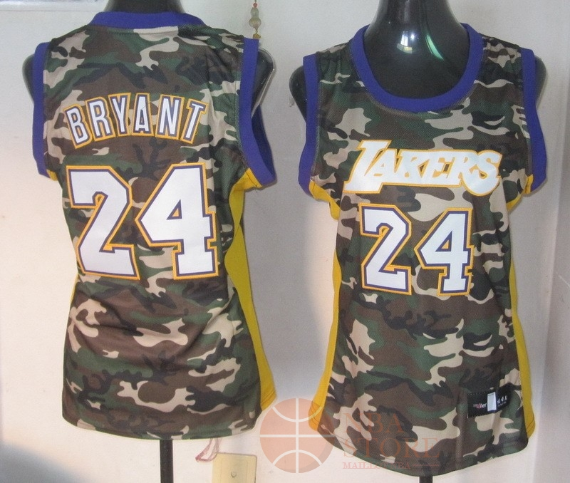 Classic Maillot NBA Femme 2013 Camouflage Fashion NO.24 Bryant