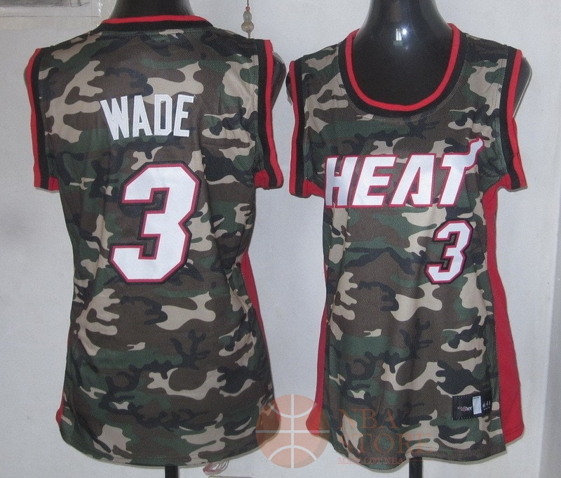 Classic Maillot NBA Femme 2013 Camouflage Fashion NO.3 Wade