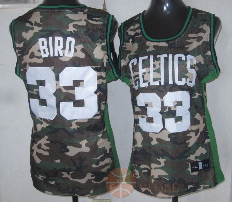 Classic Maillot NBA Femme 2013 Camouflage Fashion NO.33 Bird