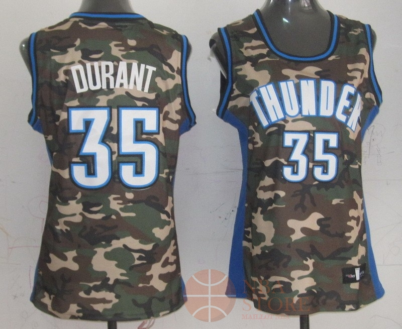 Classic Maillot NBA Femme 2013 Camouflage Fashion NO.35 Kevin Durant