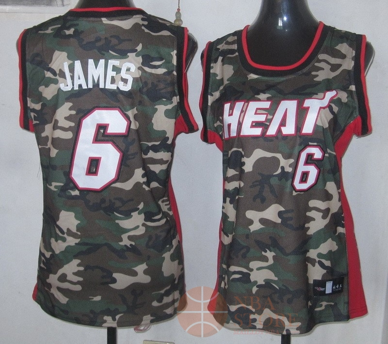 Classic Maillot NBA Femme 2013 Camouflage Fashion NO.6 James
