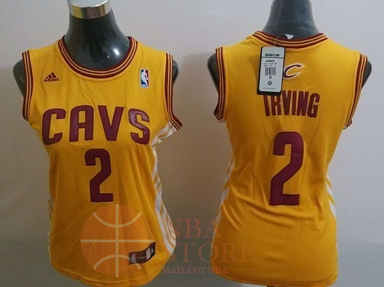 Classic Maillot NBA Femme Cleveland Cavaliers NO.2 Kyrie Irving Blanc Bande