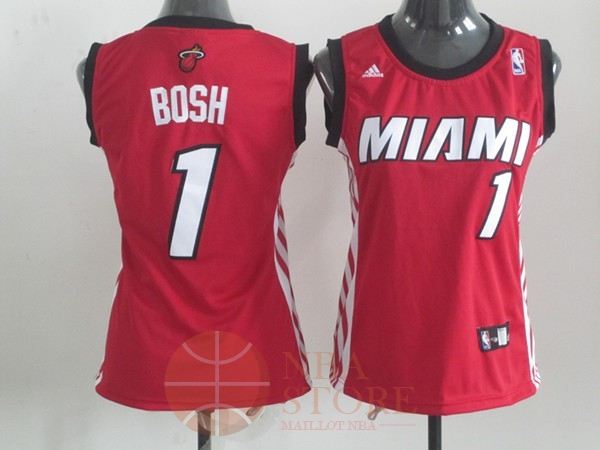 Classic Maillot NBA Femme Miami Heat NO.1 Chris Bosh Rouge