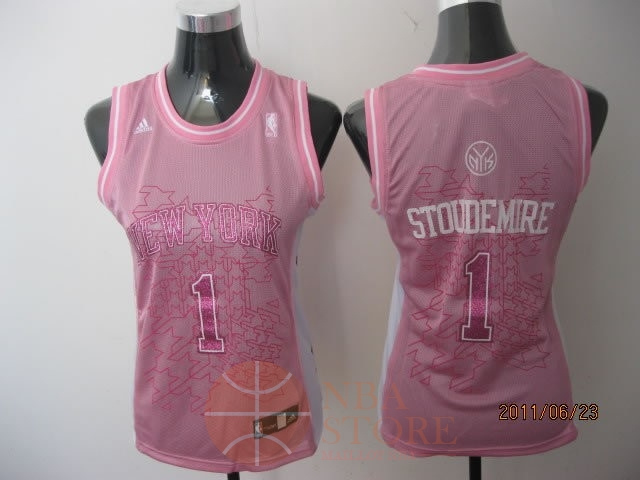 Classic Maillot NBA Femme New York Knicks NO.1 Amar'e Stoudemire Rose
