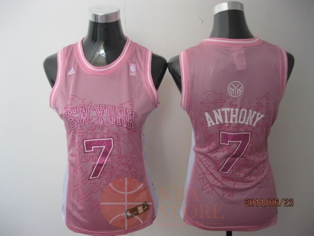 Classic Maillot NBA Femme New York Knicks NO.7 Carmelo Anthony Rose