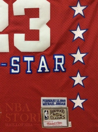 Classic Maillot NBA 1989 All Star NO.23 Michael Jordan Rouge