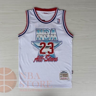 Classic Maillot NBA 1992 All Star NO.23 Michael Jordan Blanc