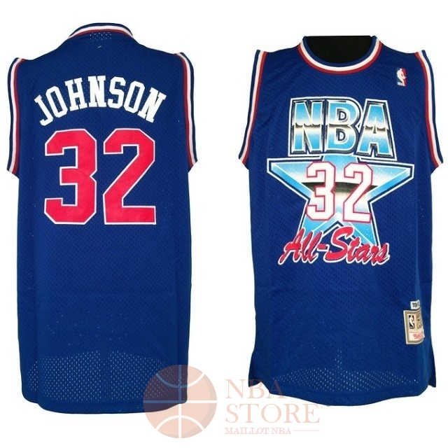 Classic Maillot NBA 1992 All Star NO.32 Joe Johnson Bleu