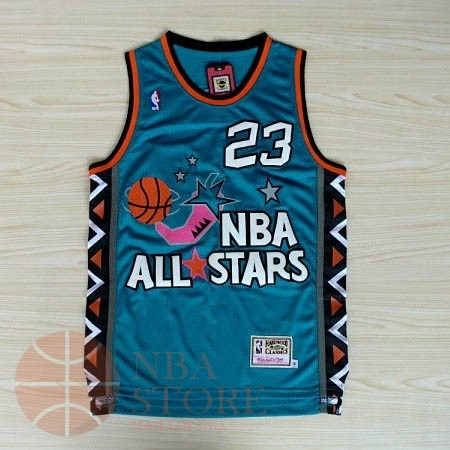 Classic Maillot NBA 1996 All Star NO.23 Michael Jordan Bleu