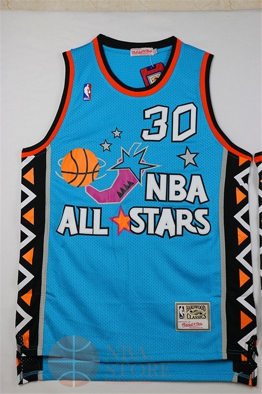 Classic Maillot NBA 1996 All Star NO.30 Scottie Pippen Bleu