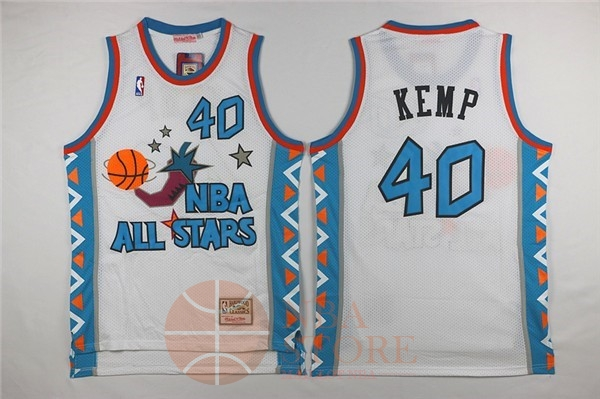 Classic Maillot NBA 1996 All Star NO.40 Shawn Kemp Blanc