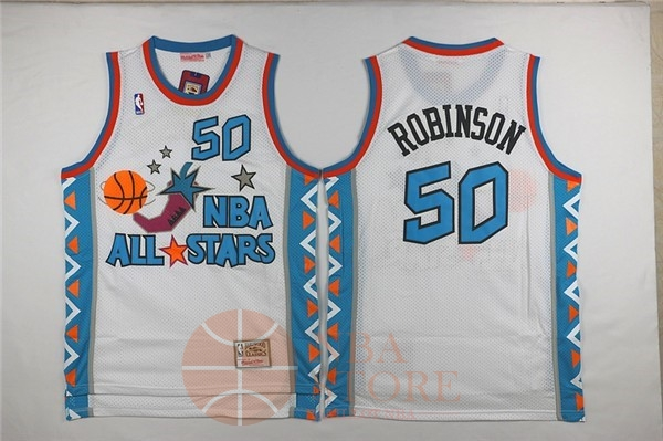 Classic Maillot NBA 1996 All Star NO.50 David Robinson Blanc