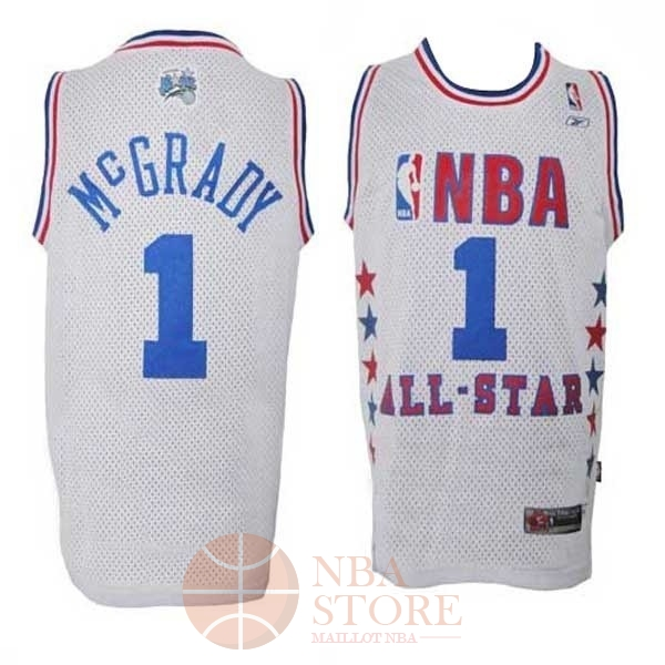 Classic Maillot NBA 2003 All Star NO.1 Tracy McGrady Blanc