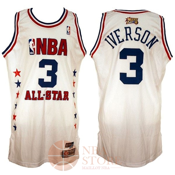 Classic Maillot NBA 2003 All Star NO.3 Allen Iverson Blanc