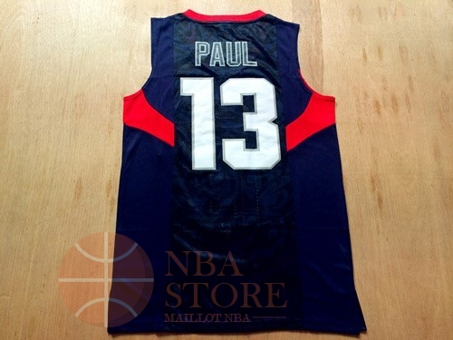 Classic Maillot NBA 2008 USA NO.13 Chris Paul Noir