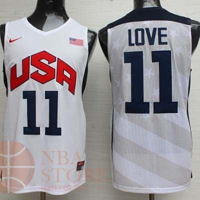 Classic Maillot NBA 2012 USA NO.11 Kevin Love Blanc